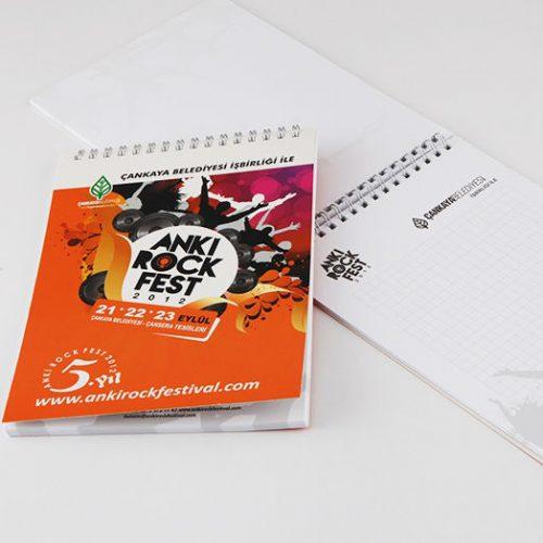 Anki Rock Fest Bloknot Tasarımı