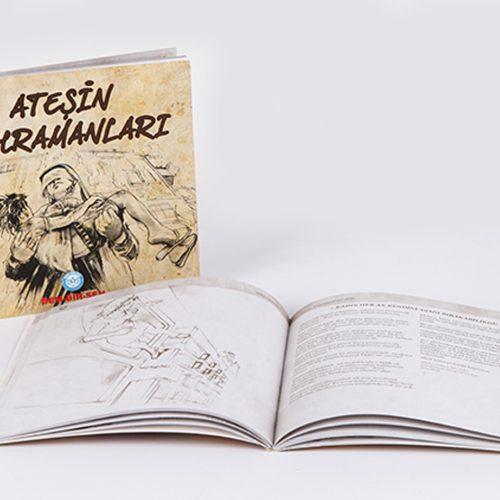 Atesin Kahramanlari Kitab Basımı