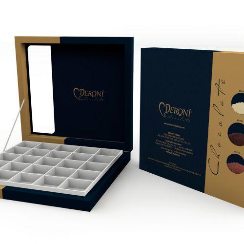 Deroni Çikolata Ürün Kutusu Basımı
